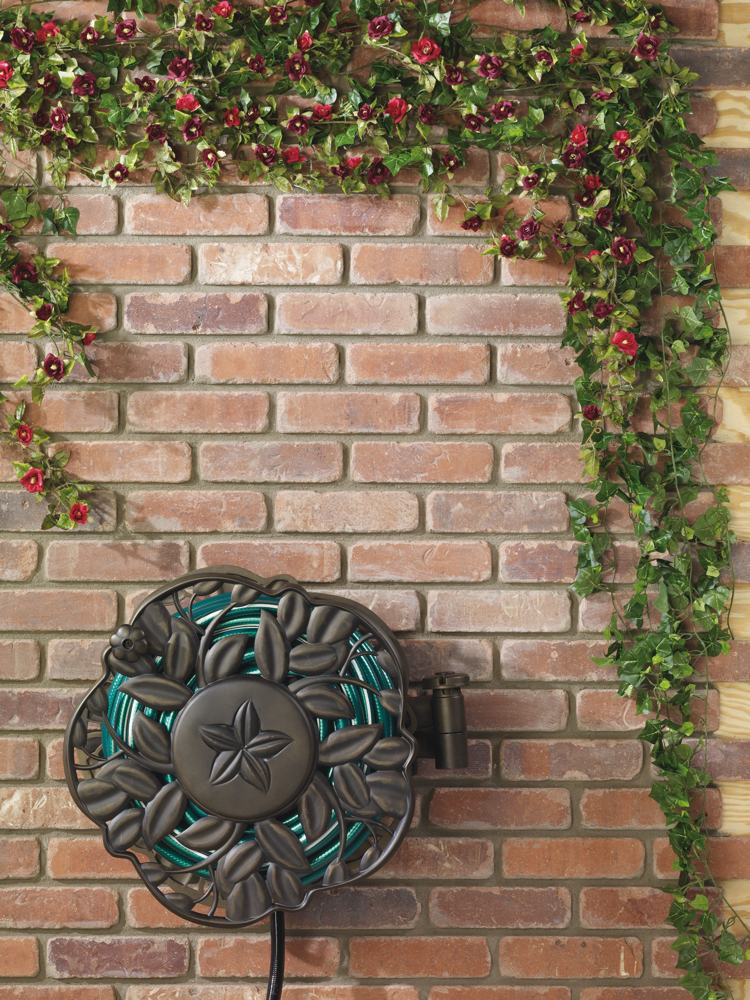 Sturdy Yet Decorative Hose Reel With 100 Foot Hose Capacity (hose Not  Included; ...