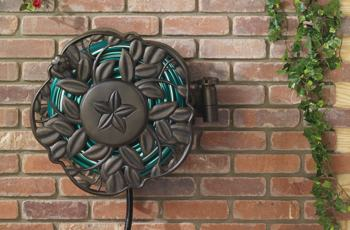 Amazon.com : NeverLeak Decorative Swivel Wall Mount Hose Reel with 100-Foot Hose Capacity