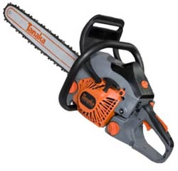 Tanaka 18-Inch Rear-Handle Chain Saw with Oregon Bar and Chain