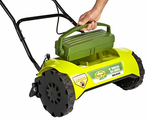 Amazon Com Sun Joe Mj420c Mow Joe 16 Inch 24 Volt