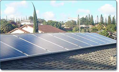 Grape Solar Residential Solar Power System on roof