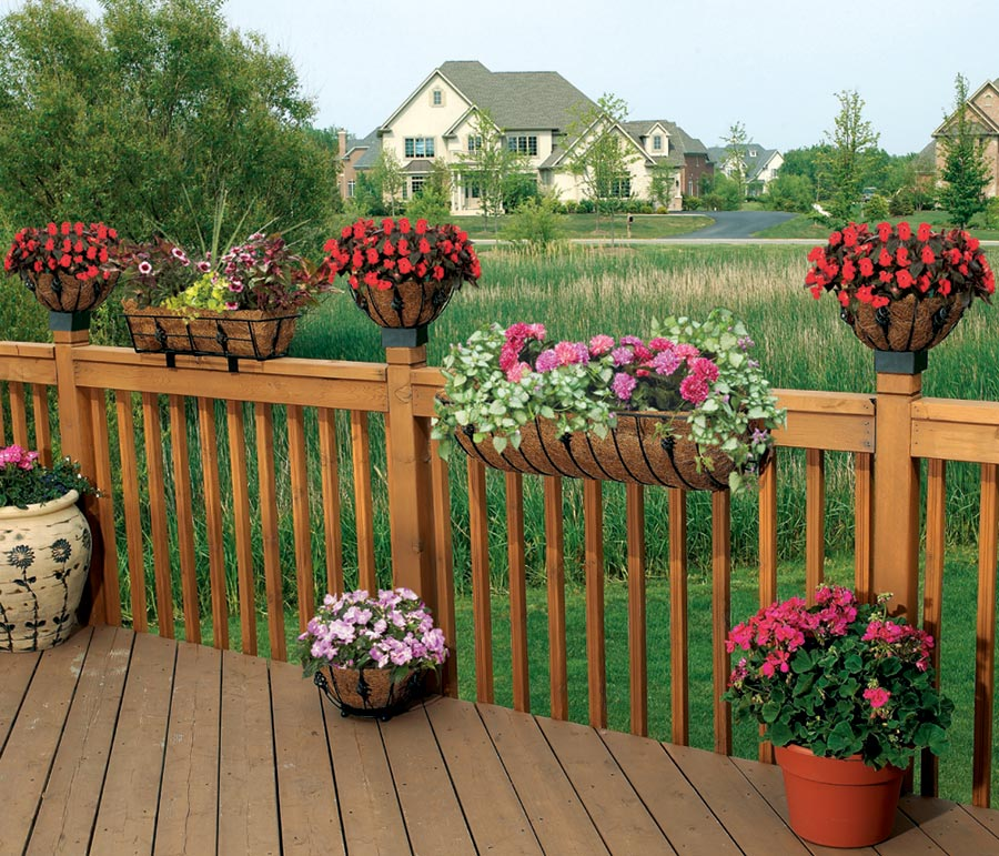 1000 Images About Garden Containers Deck Railing On: Amazon.com: CobraCo HTANT24-B Antoinette 24-inch Black