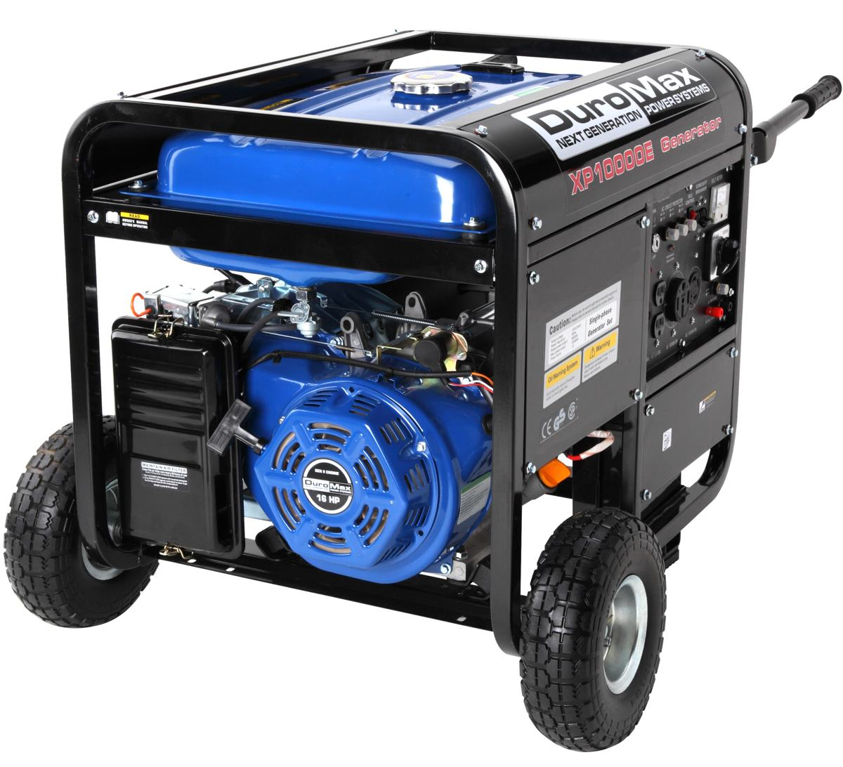DuroMax XP10000E 10,000 Watt 16 HP OHV 4-Cycle Gas Powered Portable