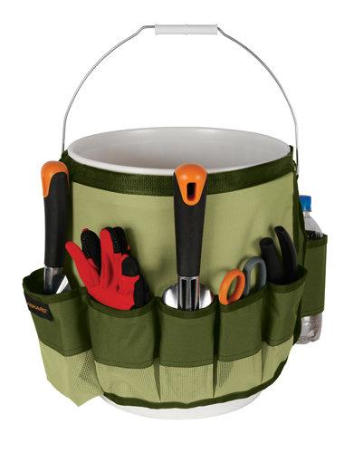 Fiskars garden bucket caddy bucket not for Small garden tool carrier