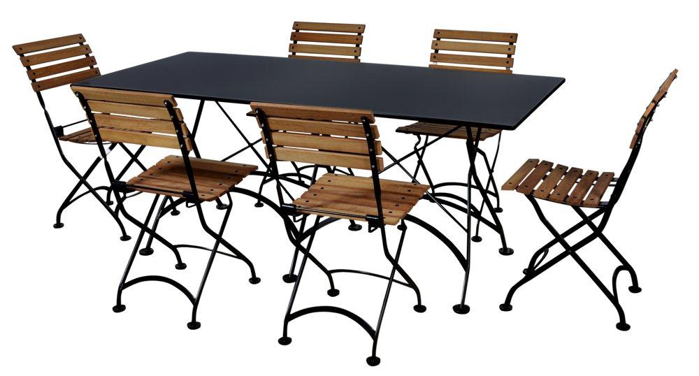 furniture designhouse french caf bistro folding table jet black frame 32 x 72 x. Black Bedroom Furniture Sets. Home Design Ideas