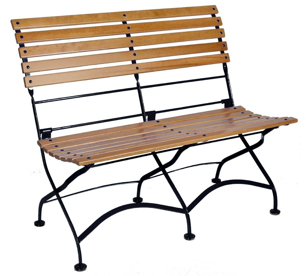 Furniture Designhouse French Caf Bistro 2 Seat Folding Bench Without Arms Jet