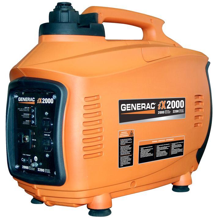 3000 Watt Honda Generator Generac 5793 iX2000 2,000 Watt 126cc 4-Stroke OHV Gas ...