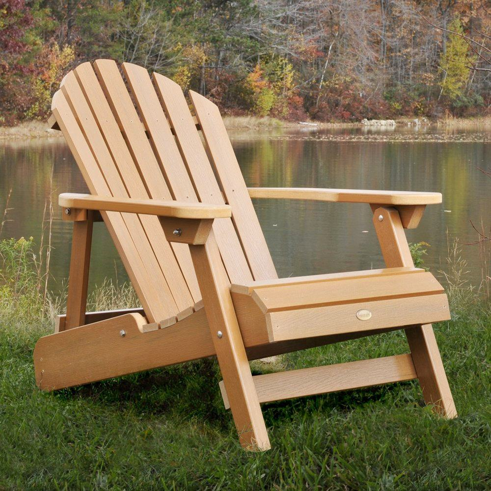 ... Reclining Adirondack Chair, Adult Size, Toffee: Patio, Lawn & Garden