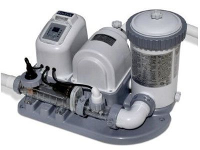 Intex above ground swimming pool salt filter pump clean clear water back flush ebay for Salt filters for swimming pools