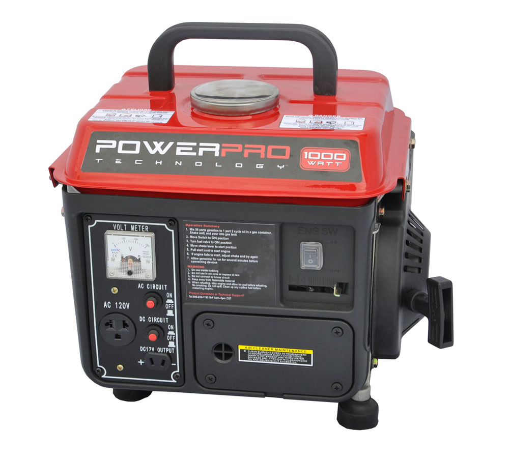 Powerpro 56100 2 stroke 1000 watt generator for Garden design generator