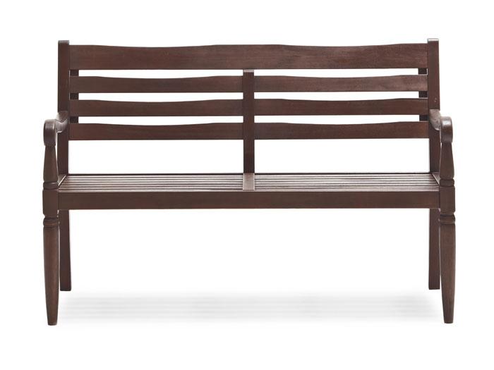 Amazon Strathwood Redonda Hardwood 2 Seater Bench Dark Brown Outdoor