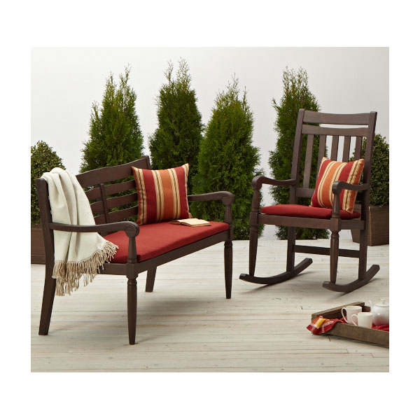 strathwood redonda hardwood rocking chair dark brown patio rocking chairs. Black Bedroom Furniture Sets. Home Design Ideas