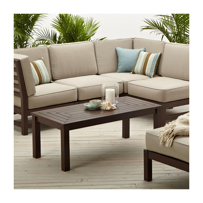 Amazon.com: Strathwood Anderson Hardwood Sectional, Armless Chair ...