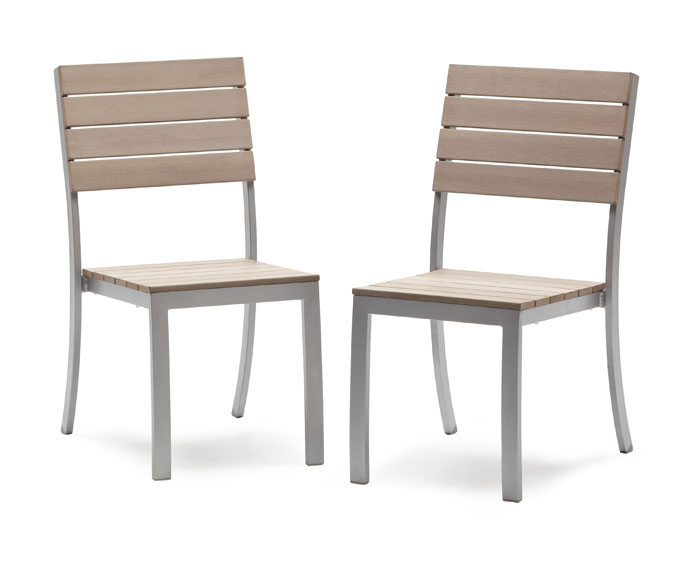 Strathwood Brook Dining Armless Chair Set of 2 Patio Furniture & Acces