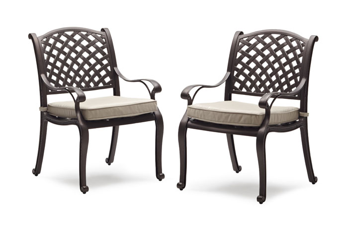 Amazon Strathwood Bainbridge Cast Aluminum Dining Chair with Cushion Se