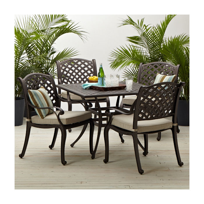 Strathwood Bainbridge Cast Aluminum Dining Table - Patio ...