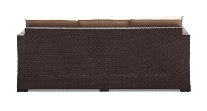 Strathwood Griffen All Weather 3 Seater Wicker Sofa ...