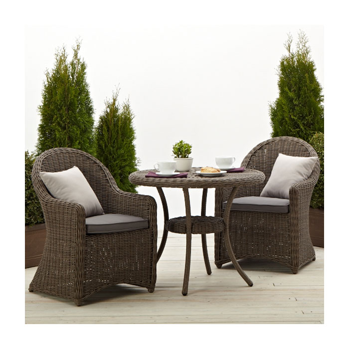 Strathwood hayden all weather wicker bistro for Outdoor furniture wicker