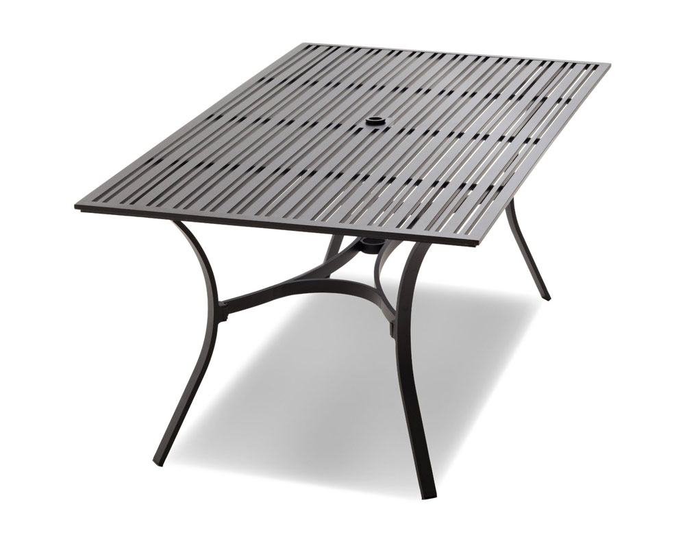 Com Strathwood Rhodes Rectangular Dining Table Patio Lawn Garden