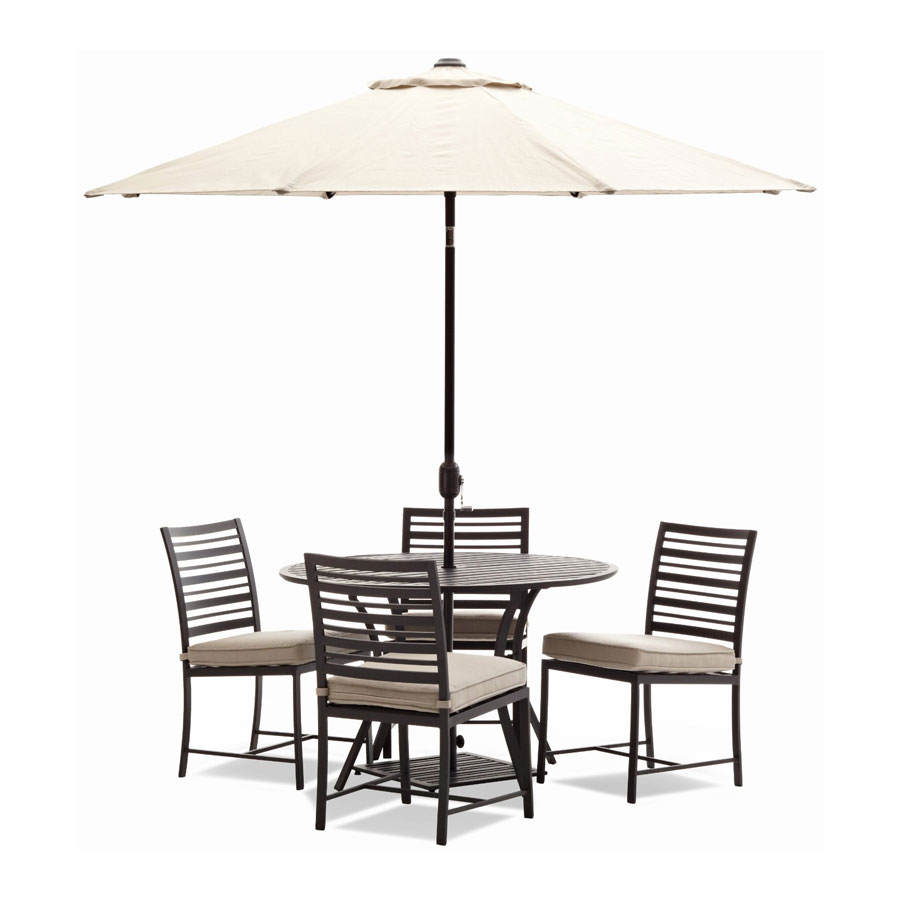 Amazon Com Strathwood Rhodes Market Umbrella Patio