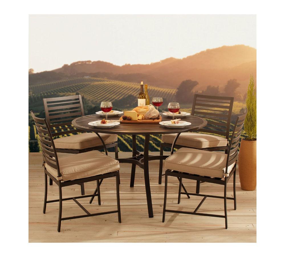 Amazon Strathwood Rhodes Round Dining Table Patio Lawn & Garden