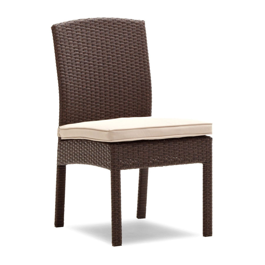Strathwood griffen all weather armless dining chairs dark for Outdoor furniture amazon