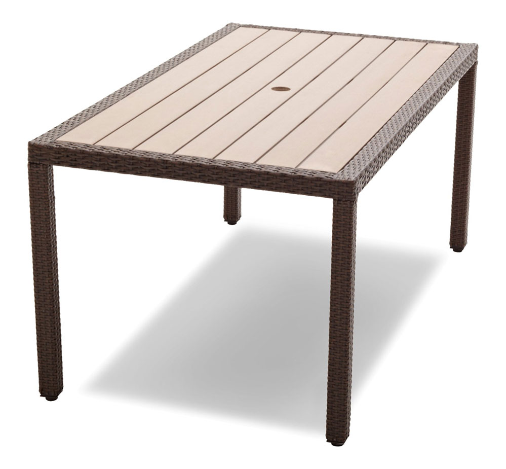 Strathwood griffen all weather wicker and for Garden patio table