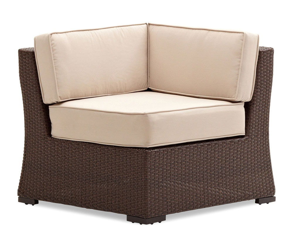Amazon Strathwood Griffen All Weather Wicker Sectional Corner Chair Dar