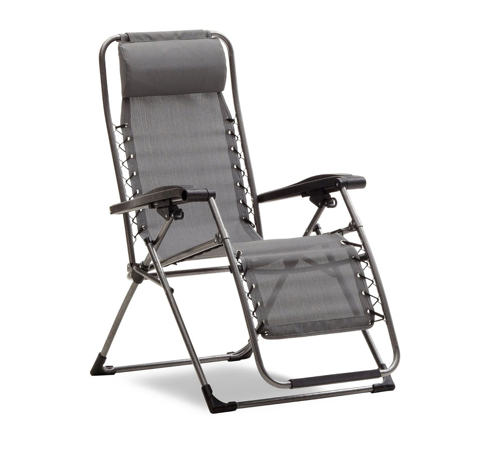 Amazon Strathwood Basics Anti Gravity Adjustable Recliner Chair Gray