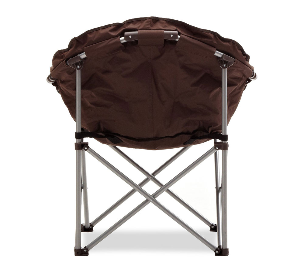Strathwood Basics Padded Club folding Chair Indoor Outdoor Brown
