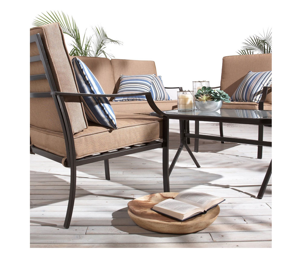Strathwood Brentwood 4 Piece All Weather Furniture Set Outdoor And Patio