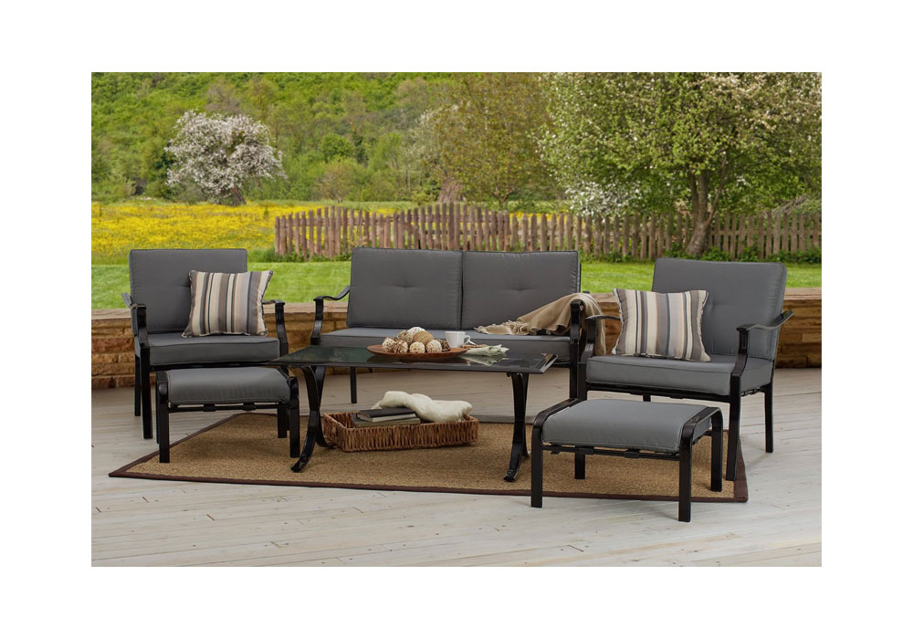 Hot strathwood basics 6 piece furniture set patio lawn for Lawn and garden furniture