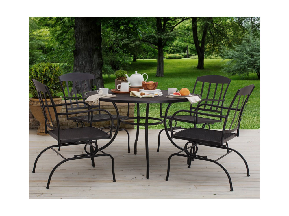 Superior Amazoncom Strathwood Basics Steel Mesh Dining Table Patio Lawn