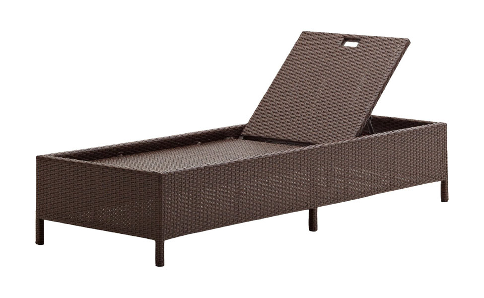 Strathwood Griffen All Weather Wicker Chaise Lounge Dark Brown