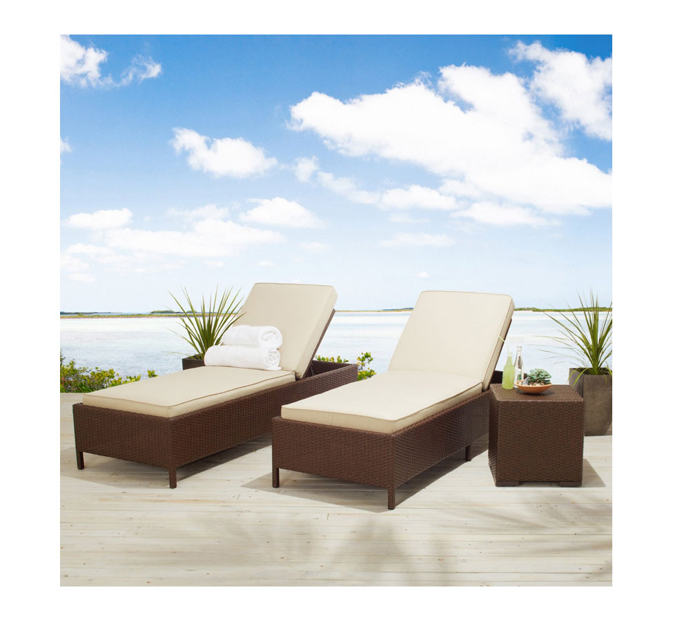 strathwood gartenm bel griffen wetterfeste sonnenliege aus polyrattan dunkelbraun. Black Bedroom Furniture Sets. Home Design Ideas