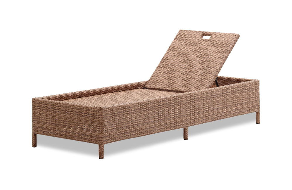 Strathwood Griffen All Weather Wicker Chaise Lounge Natural P