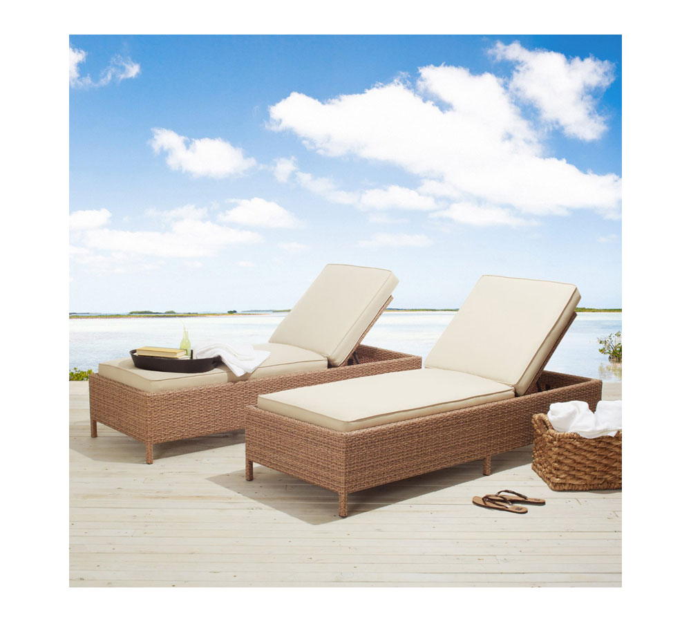 Amazon.com : Strathwood Griffen All-Weather Wicker Chaise