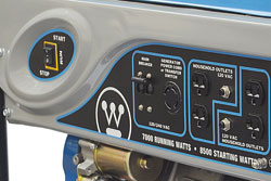 WH7000EC control panel