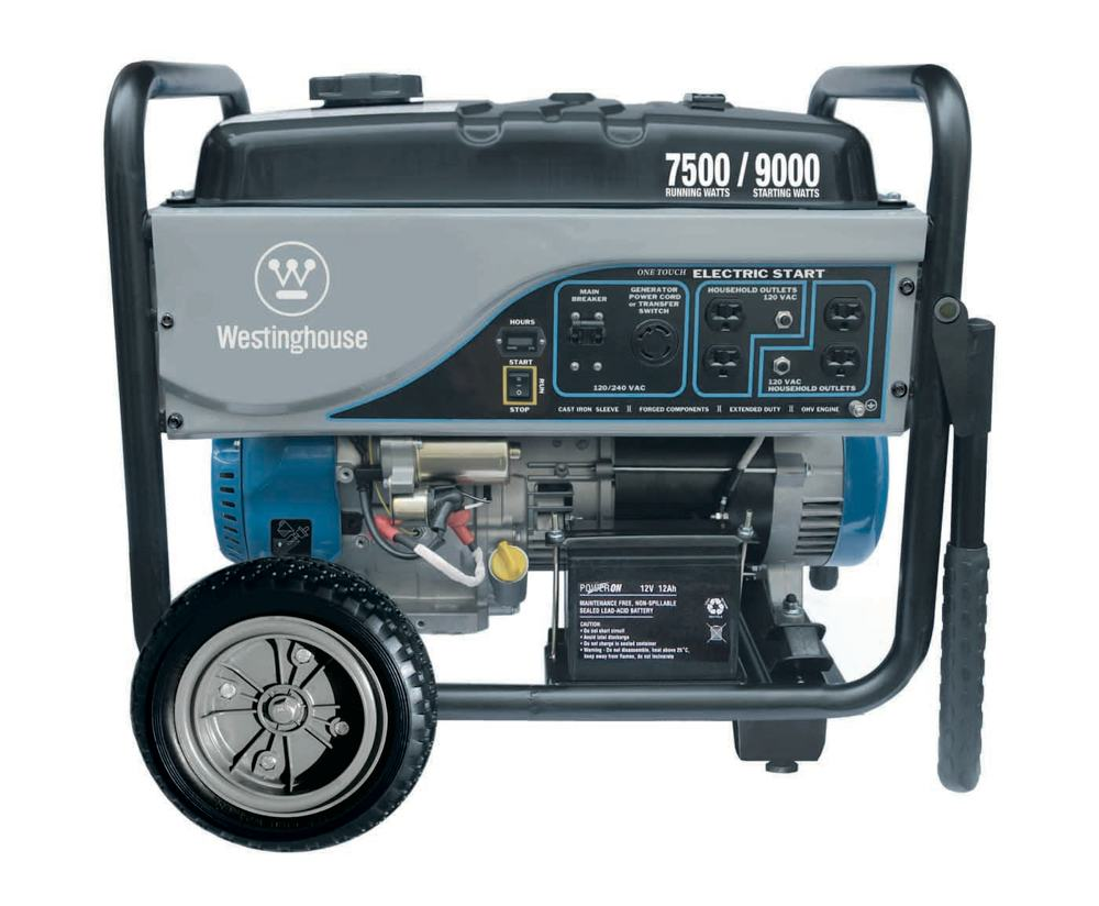 Amazon Com Westinghouse Wh7500e Portable Generator 7500