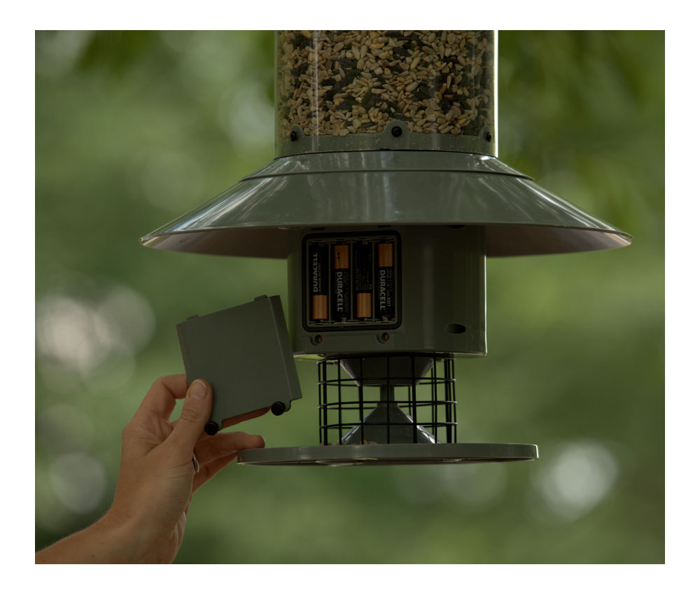 Automatic bird feeder programmable timer seed dispenser