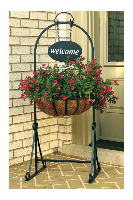Amazon.com : CobraCo Welcome Garden Hanging-Basket Planter WGPFW