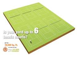 Worx tennis court