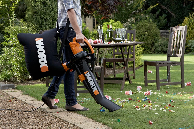 Amazoncom worx wg502 trivac delux blower mulcher vacuum for Garden vacuum