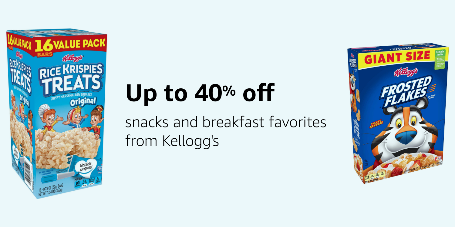 Save up to 40% on Kellogg's