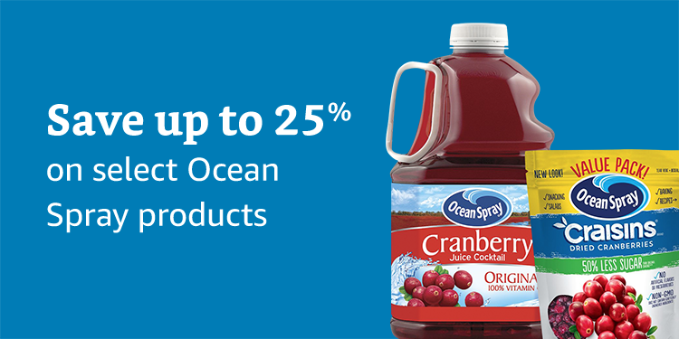 Save up to 25% on Ocean Spray