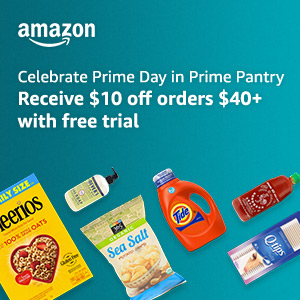 Celebrate Prime Day in Prime Pantry - $10 Off $40+ orders with free trial