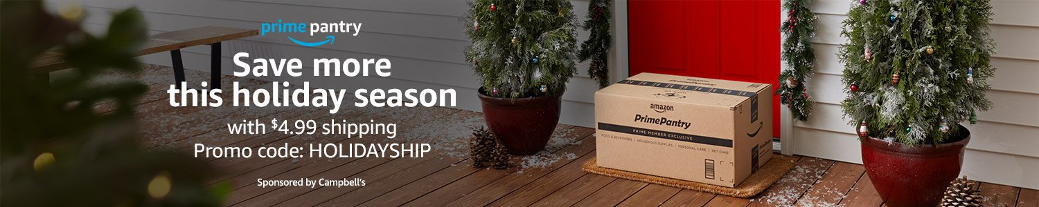"Save with $4.99 holiday shipping when you use code ""HOLIDAYSHIP"""