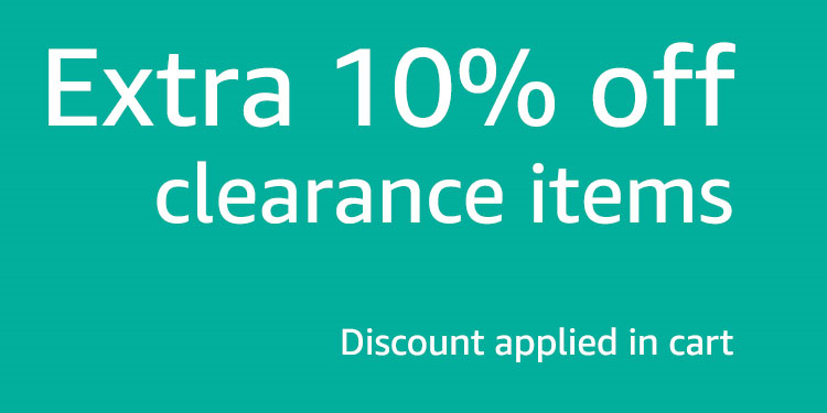 Extra 10% off Clearance Items