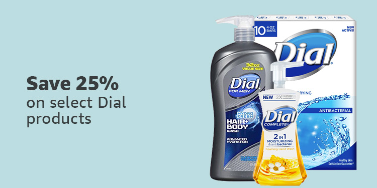 Save 25% on Dial