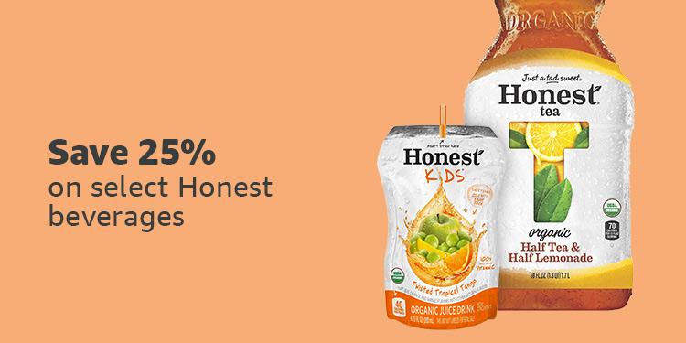 Save 25% on Honest beverages